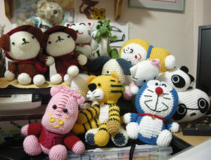 Full Collection of Crocheted Dolls